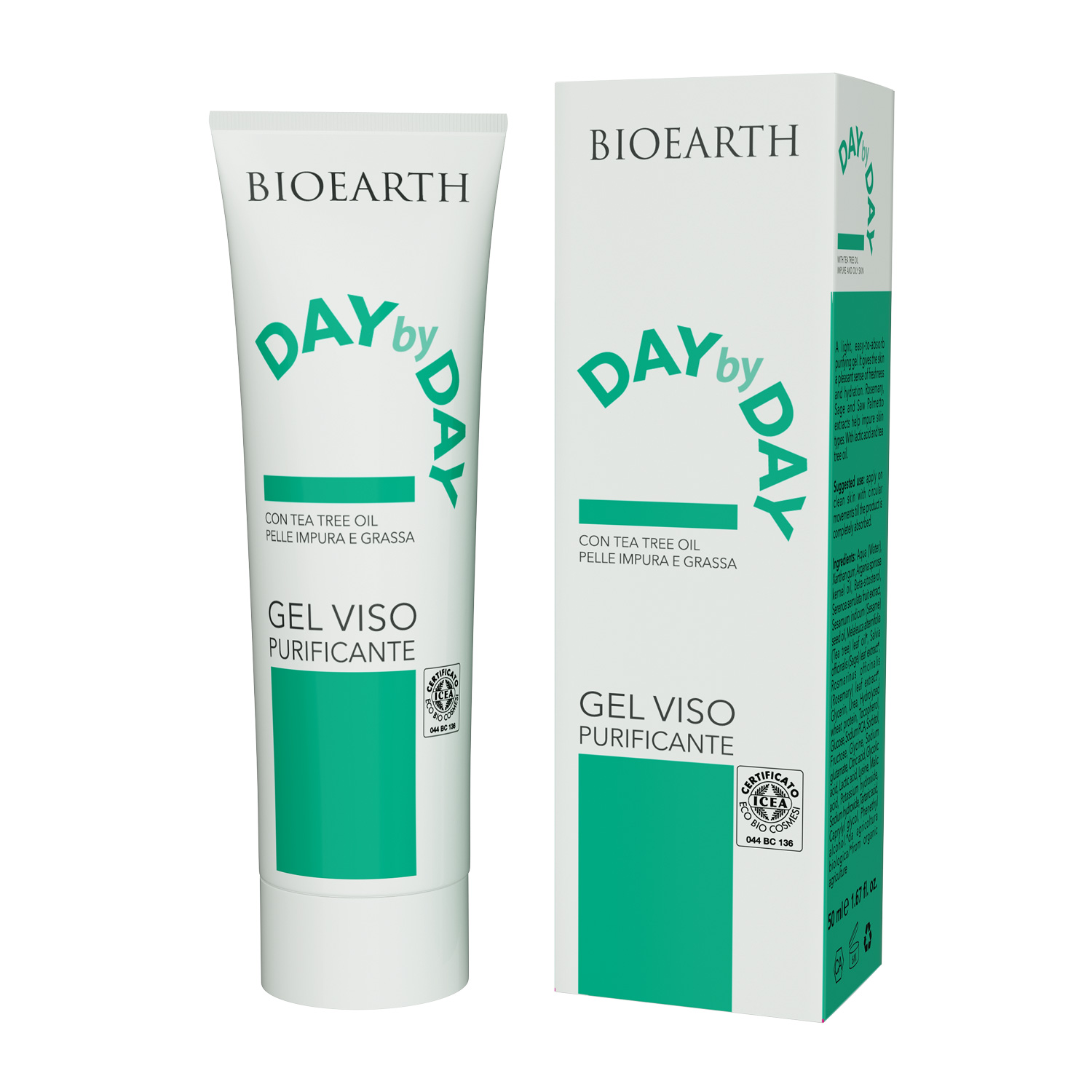 Gel Viso Purificante Day by Day Bioearth 50ml